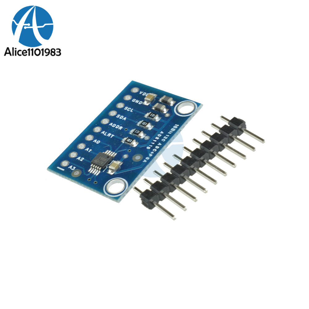 <font><b>16</b></font> <font><b>Bit</b></font> I2C ADS1115 Module <font><b>ADC</b></font> 4 channel +Pro Gain Amplifier for <font><b>Arduino</b></font> RPi image