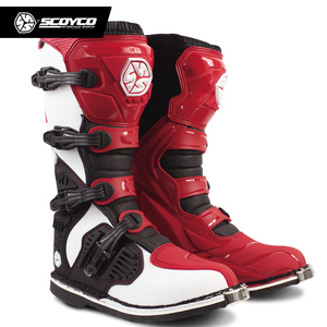 Image 5 - SCOYCO Off road Long Racing gear Boots Motocross Motorbike Riding Long Knee High Shoes Heavy Protective Gear boots