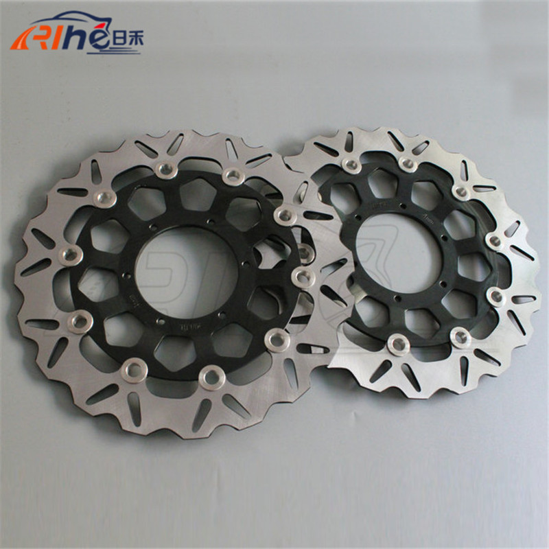 Hot motorcycle Aluminum alloy inner ring & Stainless steel outer ring front brake disc rotos For Honda CBR1000RR 2004-2005 cyt alloy steel motorcycle engine valve for honda cg200 dark grey pair