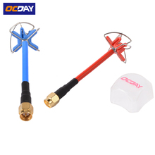 1pcs Ocday 5.8GHz High Gain Circular Polarized Transmitter Four Leaf Clover Antenna For Professional Racing Drone Compact Size