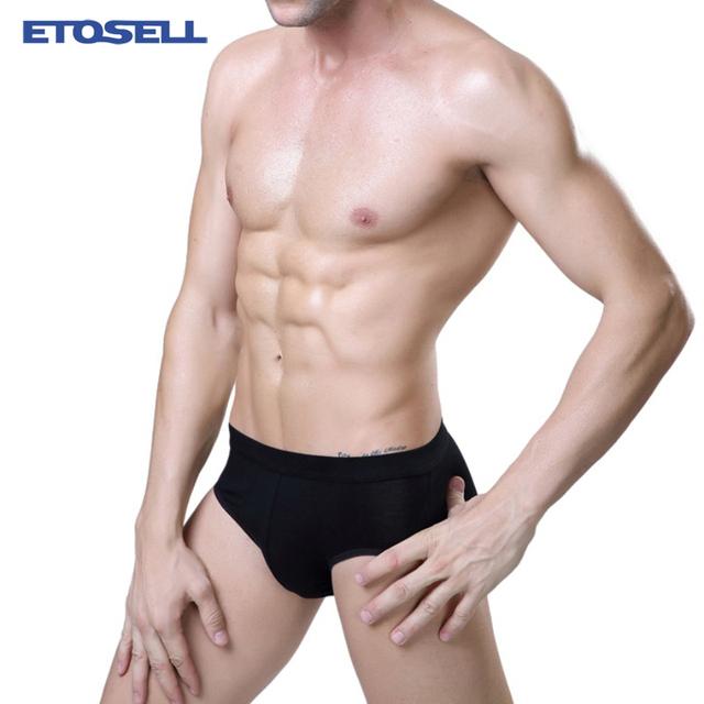 Bamboo Fiber Comfy Men Underwear Solid Elastic Sexy Briefs Mens Underwears ropa interior calzoncillos hombre slip calzoncillos