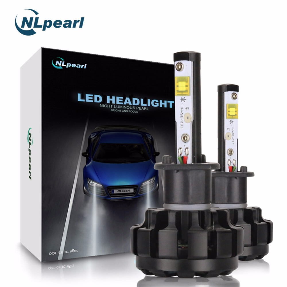 NLpearl V18 with CREE Chips Headlight Bulbs 2Pcs 12000LM/Pair 6000K H1 LED Auto Lamp H7 H4 H11 9005 9006 H1 White Super LED 12V