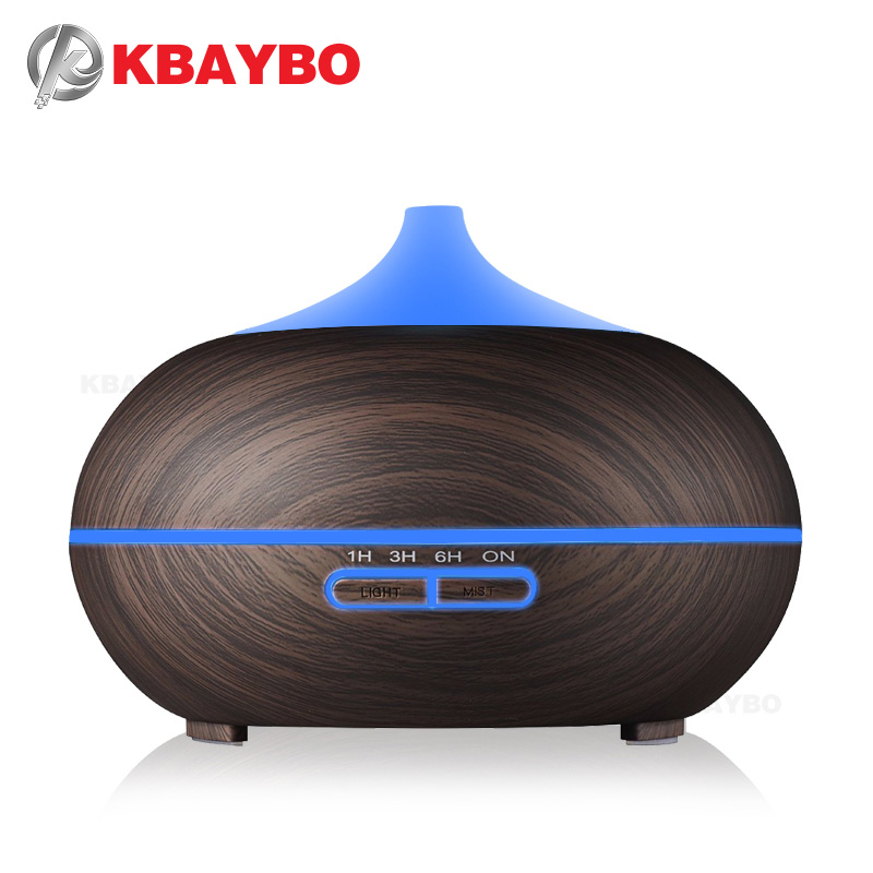 300ml Wood Grain Ultrasonic Aroma Cool Mist Umidificatore Diffusore - Elettrodomestici