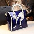 QIAN YI YUAN Diamonds handbags Genuine Leather Saffiano Fashion Embroidery Totes Women Floral Handbags & Crossbody bags  QYY2037