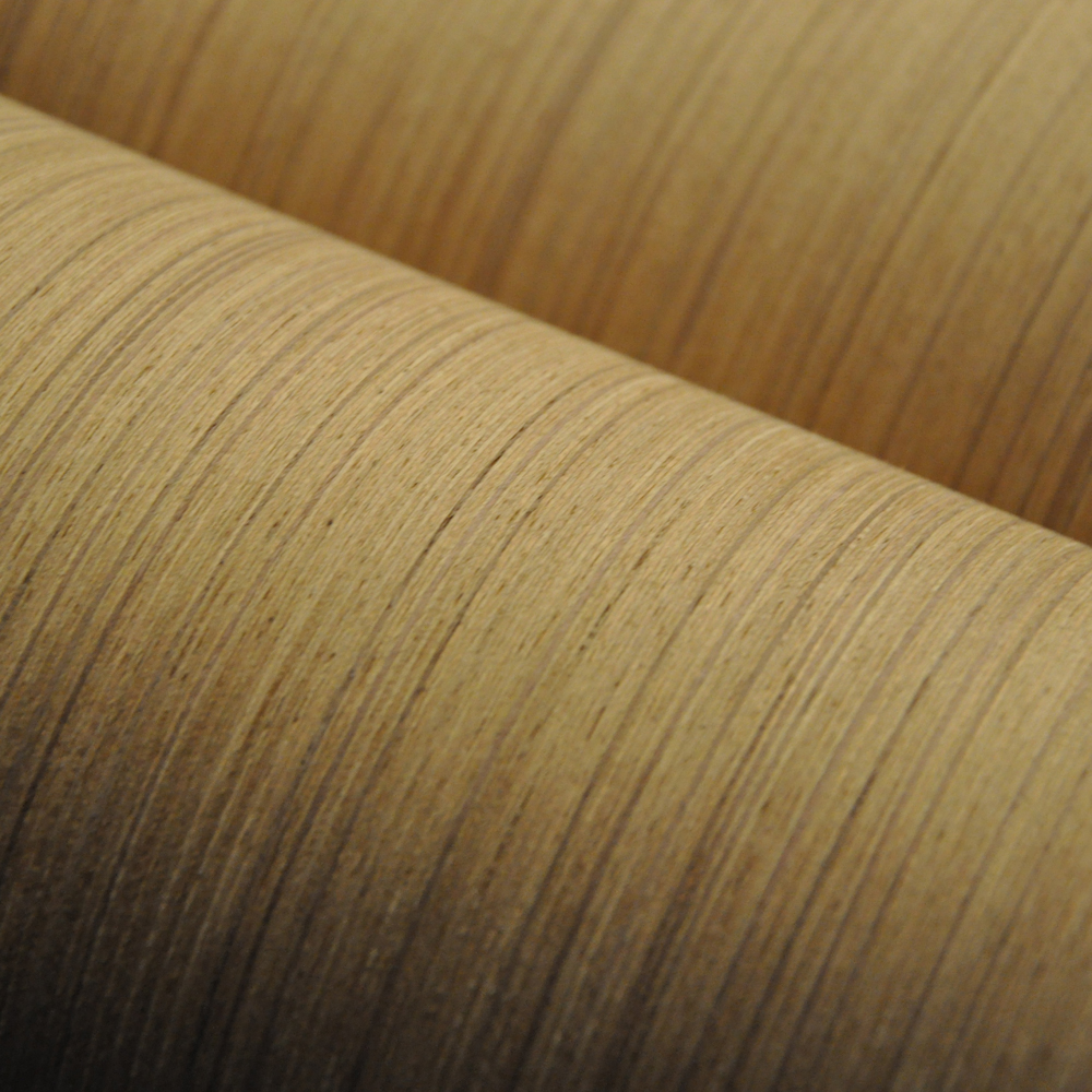 Teak Veneer Artifical Wood Veneer With Fleece Backer