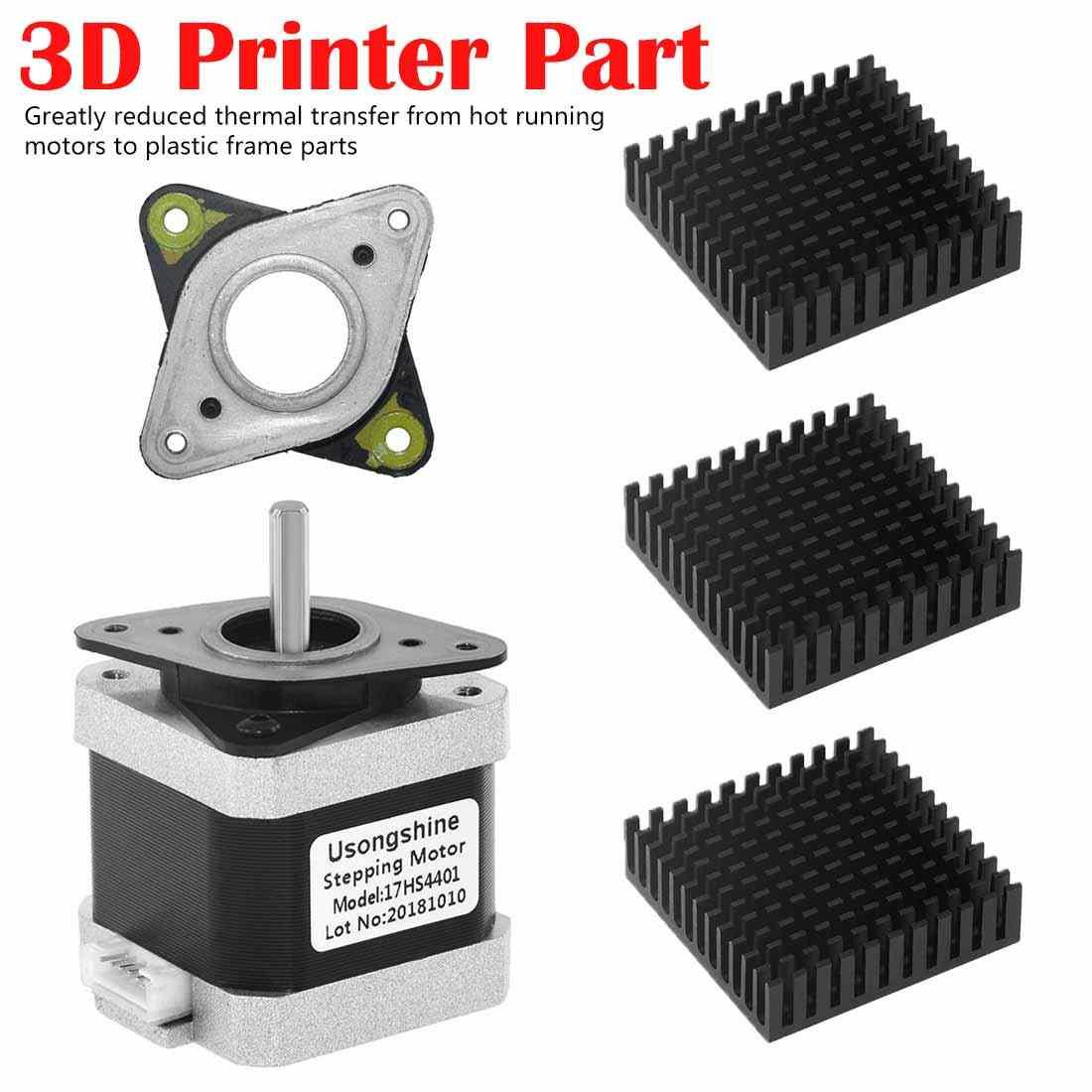 17 Stepper Damper Gasket Isolator Stepper Motor Peredam Getaran 42 Motor Absorber untuk 3D Printer Motor