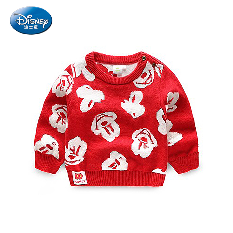 Baby Children Boys Cotton Sweaters Autumn 2017 Cotton Kids Pullover Knitted Clothes For Boy Cartoon Mickey Mouse Sweater 2017 t100 children sweater cotton toddler boy sweater o neck long sleeve knitted boy sweater brand pullover cute pattern boys clothes