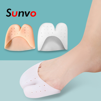 Sunvo Silicone Hallux Valgus Orthotic Insoles Toes Separator Toe Correction Cushion Forefoot Heel Apply to Bunonia Inserts Pad