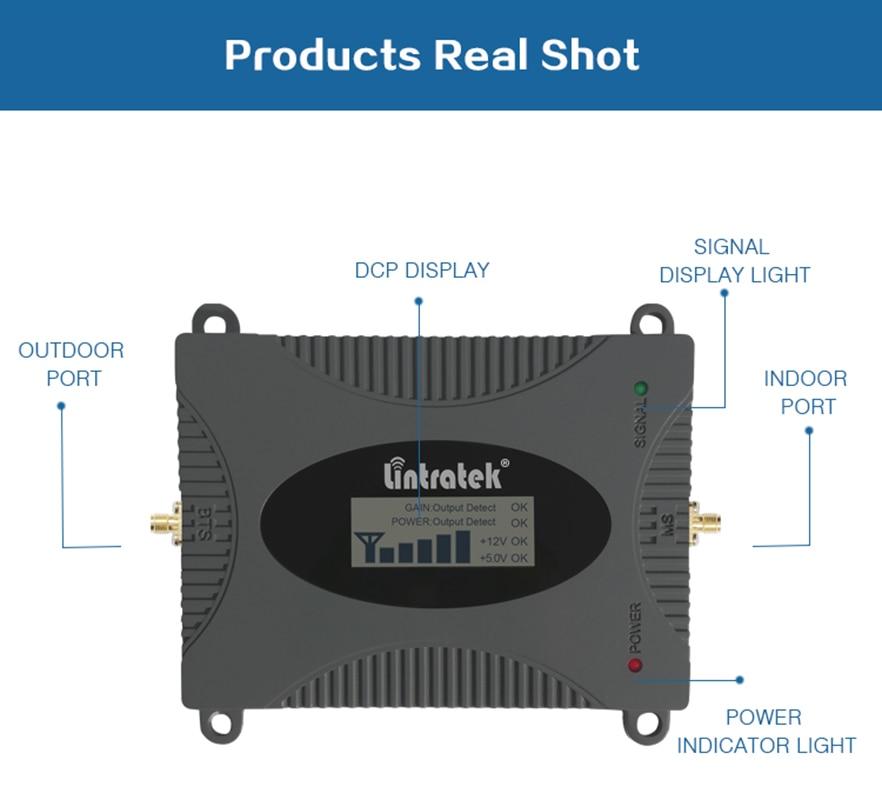 Amplificateur répéteur Lintratek 3G amplificateur de Signal WCDMA 2100 MHz 2100 LTE bande 1 avec affichage LCD répéteur de Signal de téléphone portable kit55 - 5