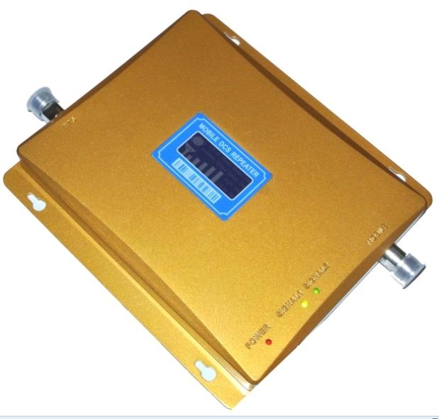 De alta ganancia de 1800 mhz DCS señal del teléfono móvil amplificador booster con adaptador