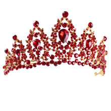 цены Red Pageant Wedding Crystal Tiaras And Crowns Bridal Rhinestone Tiaras Crowns Hair Jewelry Women girls Hairband