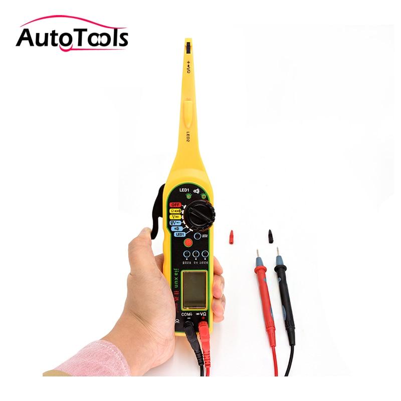 Universal de circuito eléctrico Tester 0-380 V automotriz multímetro lámpara coche herramienta de reparación con pantalla LCD MS8211