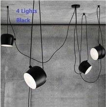 Nordic NEW Aluminium Pendant Light Fixtures Modern Restaurant Lighting Pendant  White/Black Home Hanging Lamp Creative Lampen