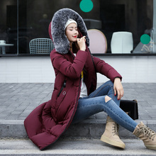 2017 Winter Jacket Women Hooded Thicken Coat Female Fashion Warm Outwear Down Cotton-Padded Long Wadded Jacket Coat Parka