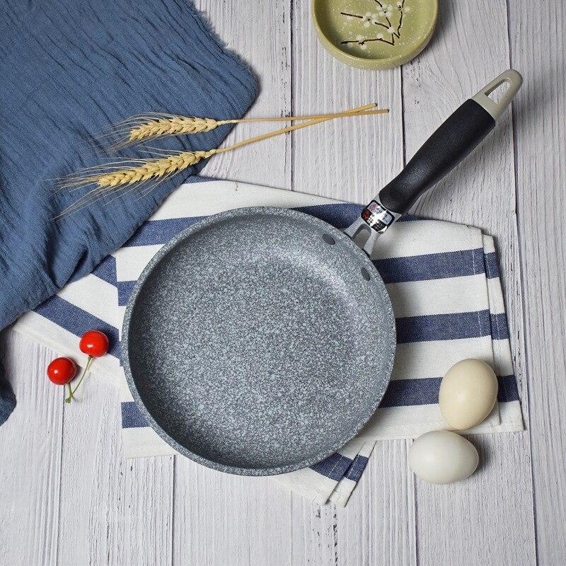 Kitchen Pot Thickening Stone Non-stick Frying Pan 20-28 CM Multi-purpose Pancake Steak Pan Japanese Style Use For Gas Induction