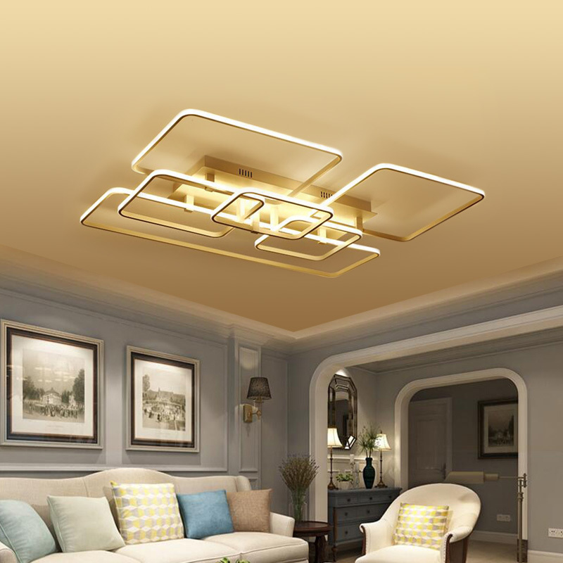Modern LED Ceiling Lights Fixtures For Bedroom Living Room Indoor Home Lighting Aluminum Acrylic Lampshade Remote Dimmable Lamp цена