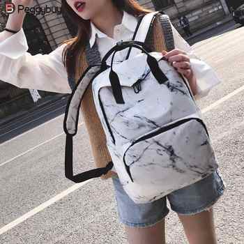 Women Nylon Backpack for Teenagers Bags Marbling Backpack Female Computer Rucksack Schoolbag Casual Female Shoulder Travel Bookb - DISCOUNT ITEM  40% OFF All Category