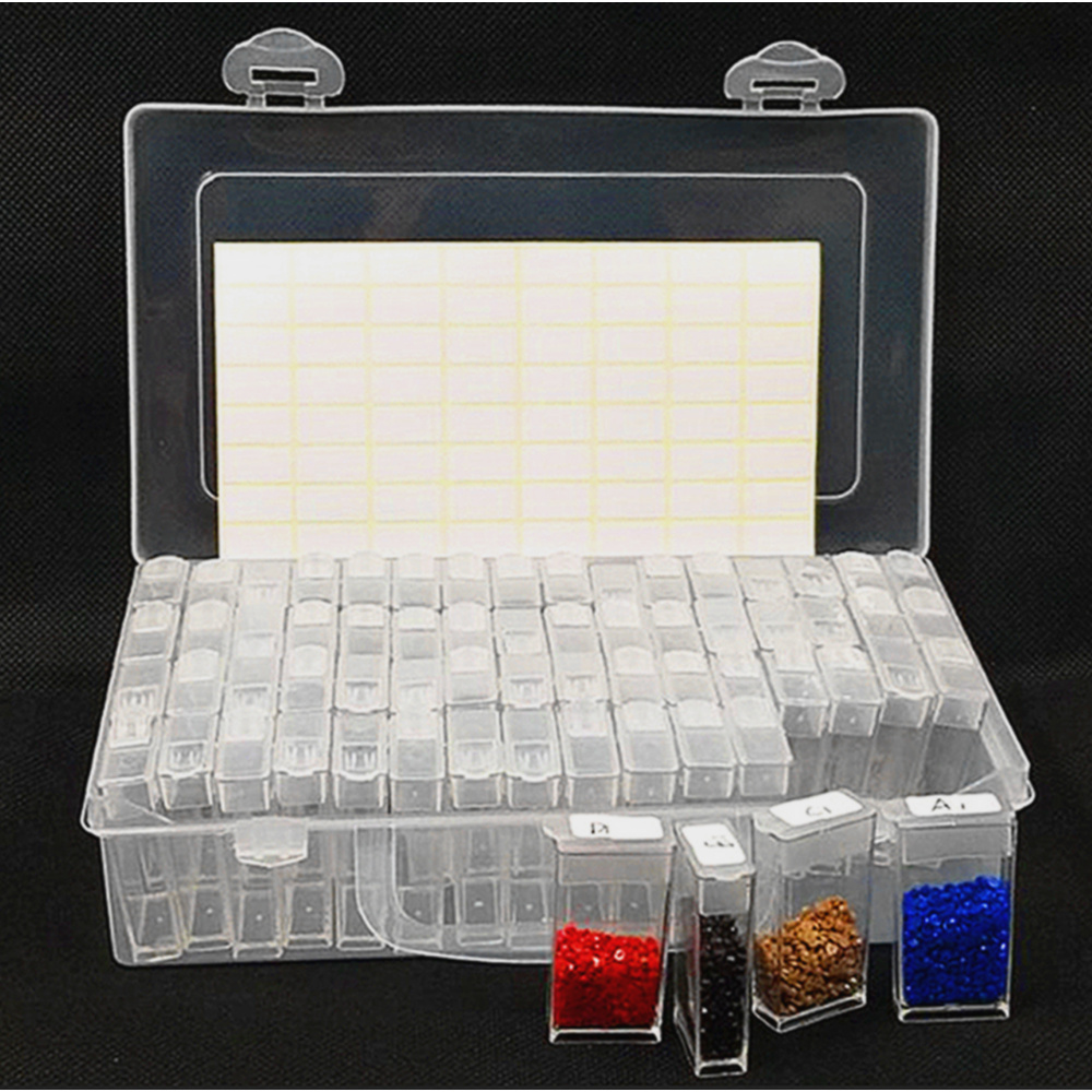 Diamond Painting Tools Beads Container Rhinestone Diamond Embroidery Stone Storage Accessory Mosaic Convenience Box