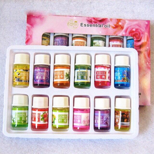Óleos Essenciais para Aromaterapia óleo essencial de Lavanda Óleo Umidificador com 12 Subiu Aromaterapia óleo de chá verde
