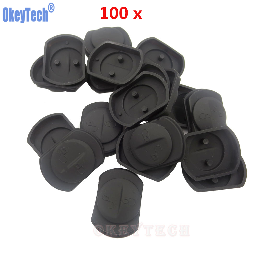 OkeyTech 100PCSLOT High Quality Replacement 2 Button Rubber Car Remote Key Pad For Mitsubishi Colt Warrior Silicone Button Pad