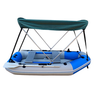Outdoor Bow Boat Cover Bimini Boat Sun Shelter Outdoor Shade Roof Top Tent Round Tubes Waterproof Tarps with Hardware