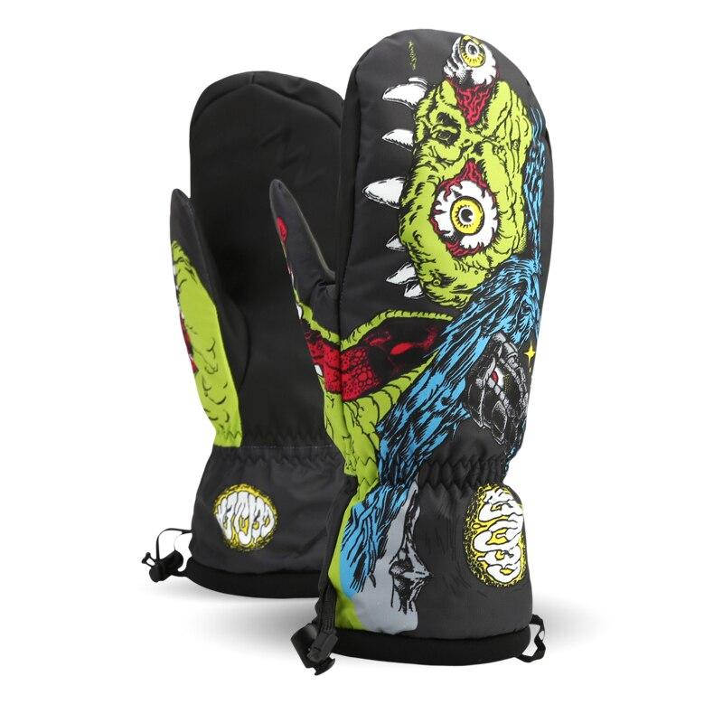 -30 Women's Men's Children Thermal Ski Snowboard Gloves Snowmobile Motorcycle Riding Winter Gloves Waterproof Nandn Snow Gloves