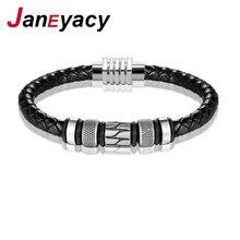 Бренд janeyacy 2018 модные браслеты из нержавеющей стали женские