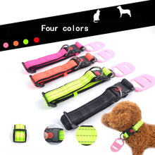 Pet Collar Personalized Dog Tag Breakaway Reflective Nylon Puppy Nameplate Adjustable Suitable Medium and Small Dogs