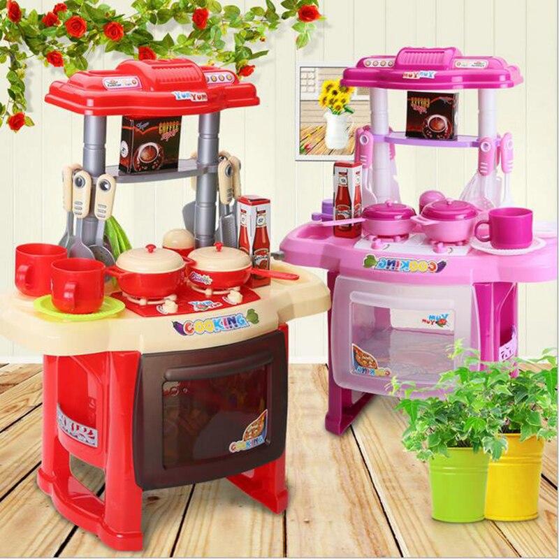 Kinder Küche Set Kinder Küche Spielzeug Große Küche Kochen Simulation  Modell Spielen Spielzeug Für Mädchen Baby