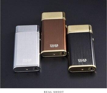 النمر الولاعات البلازما مصباح USB السجائر الإلكترونية الولاعات يندبروف يمكن ليزر شعار ل هدية عيد ميلاد مزدوجة قوس