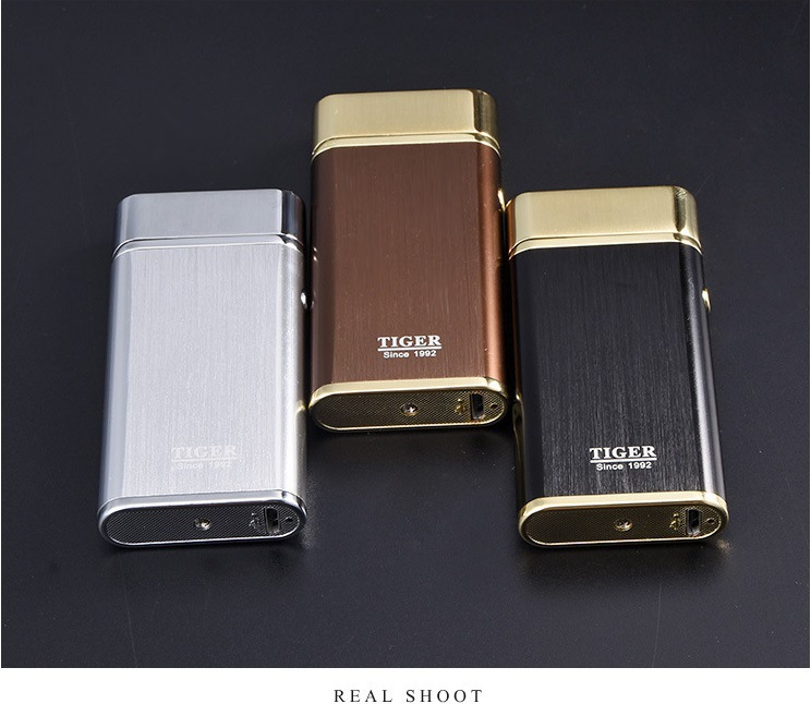 Electronic Lighters Plasma Cigarette Double-Arc Windproof for Birthday-Gift Can-Laser-Logo