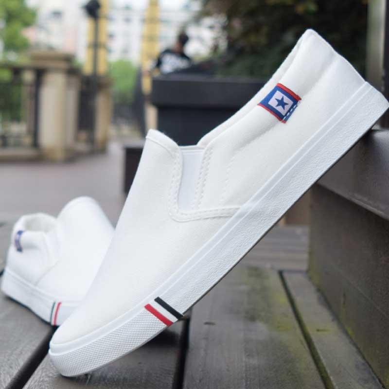 blue Appartements Sneakers Anti De D'été Black Sport Toile Chaussures Blanc Nouveaux 47 Mocassins Haute Homme Qualité slip Hommes 35 Confortable white 2018 Taille 6a1Avw