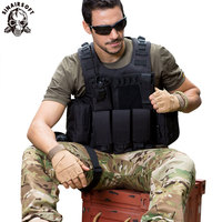 SINAIRSOFT Camouflage Hunting Military Tactical Vest Wargame Body Molle Armor Hunting Vest CS Outdoor Jungle Equipment LY2029