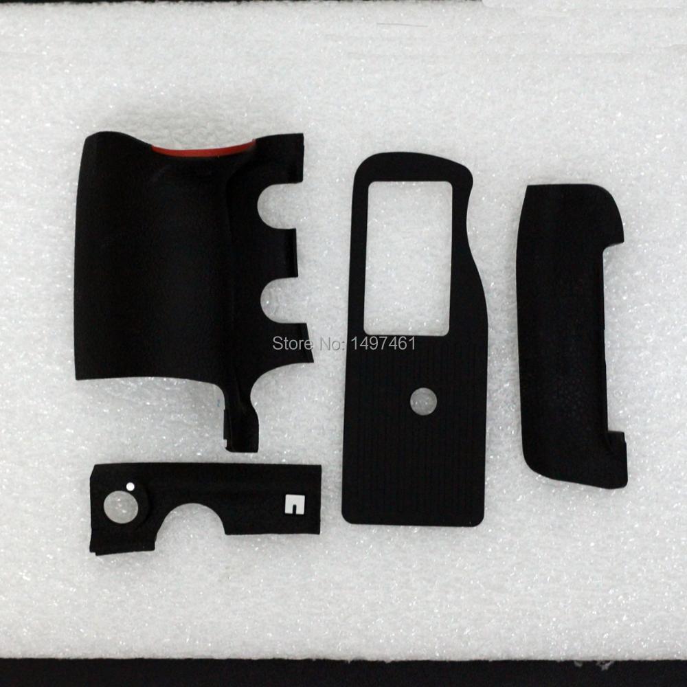 Ein Satz von 4 STÜCKE Grip Body Gummi-abdeckung shell ersatzteile + 3 Mt Band Für Nikon D4 SLR