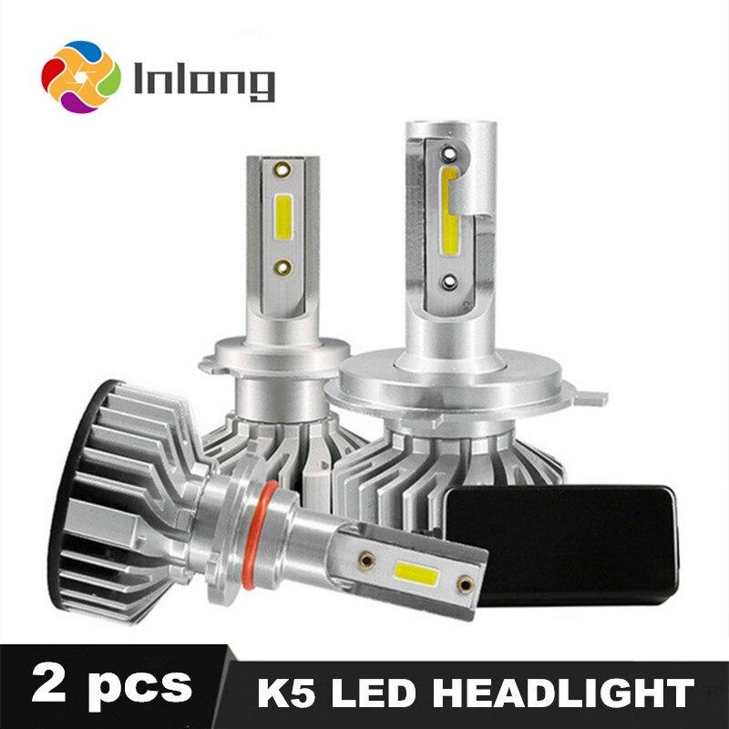 Inlong Mini H4 LED COB H7 10000LM 72 W Super Lumineux H3 H1 H9 H8 H11 9005 HB3 9006 HB4 H8 Voiture Phare Ampoule 6000 K Phares Antibrouillard 12 V
