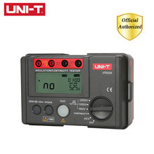 UNI-T UT502A 2500V Digital Insulation Resistance Meter Tester Megohmmeter High Voltage / Overload Indicator LCD Backlight цена