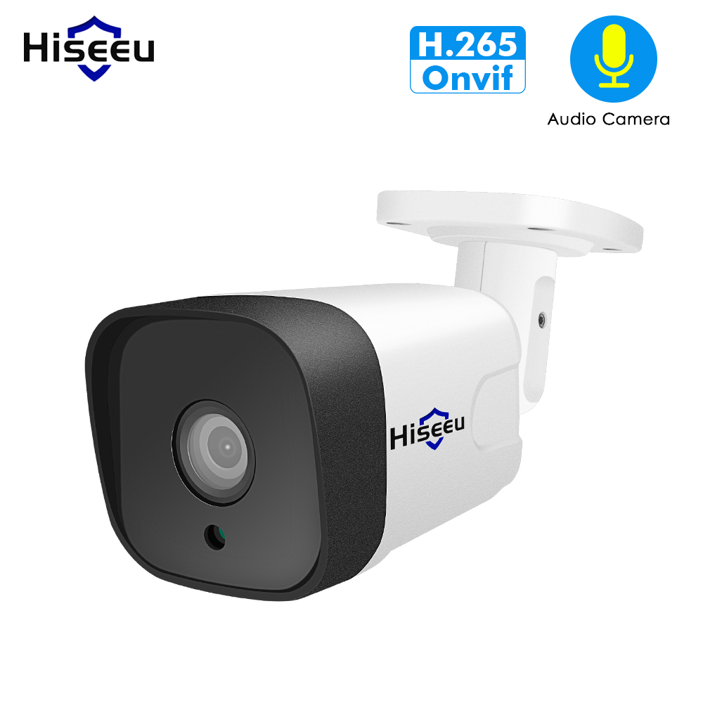 Hiseeu 1080P 2MP Audio POE IP Camera ONVIF Waterproof Network Outdoor Cam for POE NVR H.265 App View IR-Cut Motion DetectionHiseeu 1080P 2MP Audio POE IP Camera ONVIF Waterproof Network Outdoor Cam for POE NVR H.265 App View IR-Cut Motion Detection