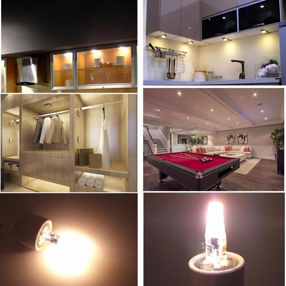 Dimmable Mini G4 LED COB Lamp  6W Bulb AC DC 12V 220V Candle Silicone Lights Replace 30W 40W Halogen for Chandelier Spotlight