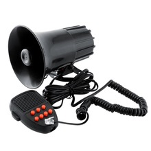 цена на Universal Car Warning Alarm 100W 150DB 12V 7 Sound Loud Police Fire Siren Horn PA Speaker Kit