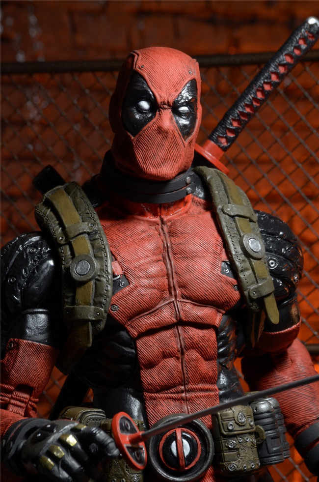 Marvel Super Hero Figuras de Ação Deadpool Plus Size 46 centímetros Super Poseable Ruim Ultimate collector 1/4 Brinquedos