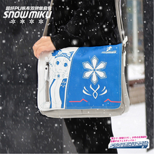 Anime VOCALOID New Hot Canvas Messenger Bag Hatsune Miku Flap Crossbody Bags Snow Miku Cosplay Travel