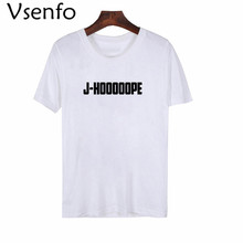 Vsenfo BTS J-HOOOOOPE Unisex camiseta de las mujeres J-espero que Bts Kpop 71895fcbc15a1