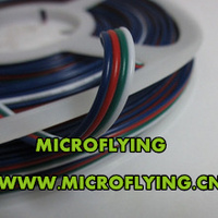 Free Shipping 10M Roll 4 Pin LED Connector Extension RGB Blue Red Green Black Wire Cable