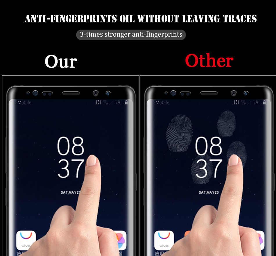 11D Full Cong Cường lực Cho Samsung Galaxy S8 S9 Plus S10 Lite Note 8 9 Tấm Bảo Vệ Màn Hình Cho samsung A8 A6 2018 S7