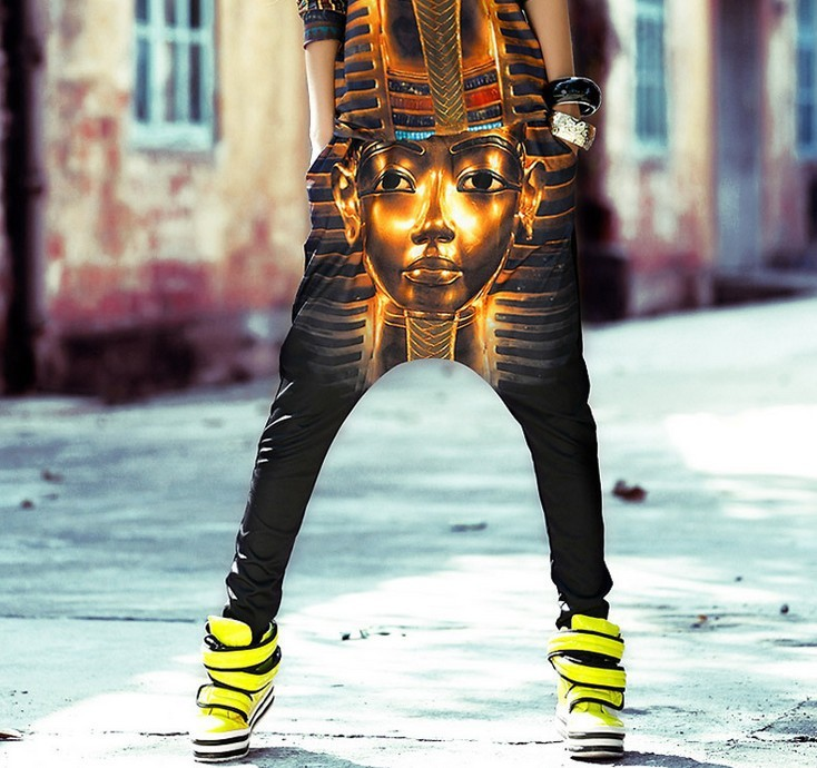 Lastest Buy Menu0026#39;s Fashion Casual Hip Hop Baggy Harem Pants Black | BazaarGadgets.com