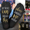 2017 new  Unisex wine socks If You can read this Bring Me a Glass of Women Socks women men chirstmas