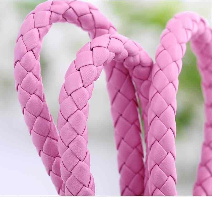 Llaveros de Metal para amantes Brithday regalo llavero Trinke alta calidad t colorido nuevo cable de cuero trenzado Multicolor llavero