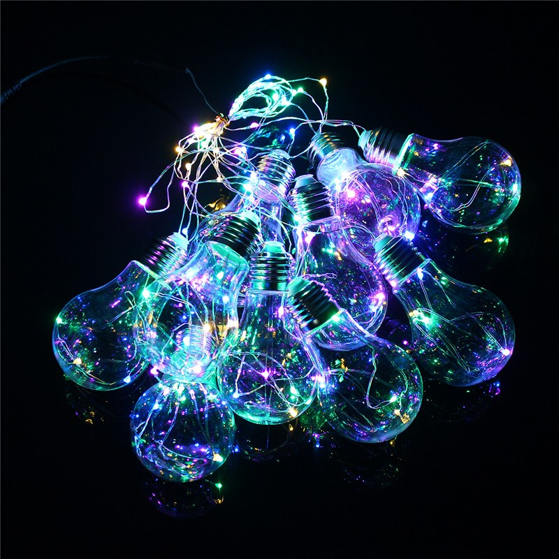 10 LED String Lights Clear Globe Ball Indoor Outdoor Bulbs For Christmas Holiday Fairy Lamp Hallowmas Decoration AC100V-240V 4 glass small clear ball paraffin oil lamp indoor outdoor