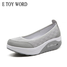 E TOY WORD Summer Women Flat Platform Shoes Woman Casual Air Mesh Breathable Shoes slip on gray Fabric Shoes zapatos mujer цены