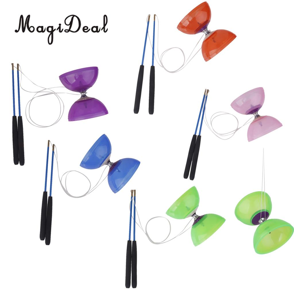 MagiDeal Rubber 5-Bearing Diabolo With Handsticks & String Juggling Toy for Professionals Beginners Children Adult Classic Toy